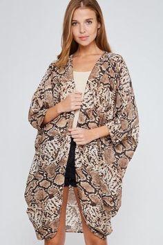 2e1ddf798 Tangara Tan Snakeskin Print Kimono #shopmissjudgement  #shopmissjudgementboutique #missjudgementboutique #missjudgement #boutiques  #