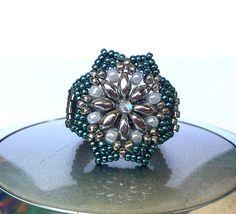 Peyote ring Seed bead ring Beaded ring Beadwork ring by MaJolieMe