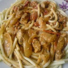 No Cook Meals, Spaghetti, Pork, Yummy Food, Pasta, Meat, Chicken, Cooking, Ethnic Recipes