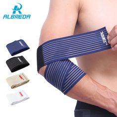 ALBREDA 1 st 70 cm * 7.5 cm Elastische Nylon Elleboog Brace Basketbal Tennis Sport Veiligheid Bescherm bandage Voorkomen verstuiking elleboog Ondersteuning Pad
