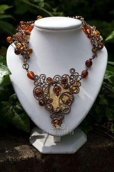 OOAK handmade steam punk necklace