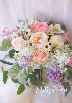 ● Bridal Bouquet | Milky Flower of Wedding & Flower Lease *