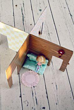 Cardboard Box Dollhouse