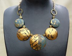 Polymer clay necklace by P'tits Cailloux (Olga Nicolas).
