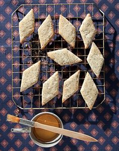 Pirishkes (Poppy Seed  Honey Cookies) - strangely enough I have 1/4 cup of poppy seeds laying around just waiting to be baked into something!