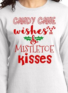 cd84a320a Gangsta Wrapper. See more. Candy Cane Wishes Christmas t-shirt. Personalize  online. Christmas Candy, Candy Cane
