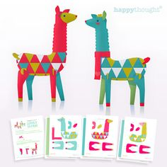 Lovely Llamas Printable - love this site! fun printable toys, decorations, cards, party sets, paper dolls etc.
