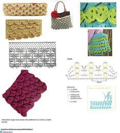 Patron Crochet Bolso de Escamas - Patrones Crochet
