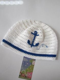 Hey, I found this really awesome Etsy listing at https://www.etsy.com/listing/247051738/anchor-hat-nautical-beanie-crochet