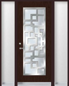 Single Entry Door With Stainless Steel Frame On Top Of Glass Wallpaper