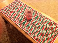 Free Pattern for Crochet Leaf-Stitch Table Runner  - Jeris Swanhorst