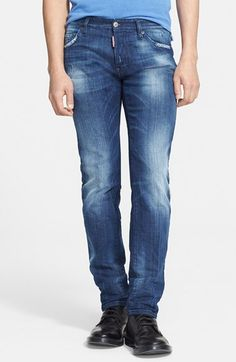 Dsquared2 'Dean' Straight Leg Jeans (Blue) available at #Nordstrom