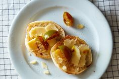 Rawduck's Lime Pickles, served with sharp cheddar on a crumpet (or here, an English muffin!)