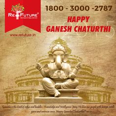 "RE-FUTURE : Wish U all a very Happy "" Ganesh Chaturthi "" ‪#‎Franchise‬ ‪#‎Realestate‬"
