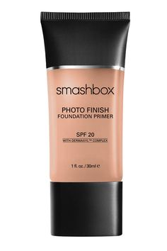 This silicone-based primer has a texture like pure silk and preps the face by smoothing out fine lines and pores to creates a flawless canvas and a strong foothold for foundation. The added SPF 20 protection minimizes your morning routine and keeps you shielded throughout the day.  Smashbox Photo Finish Foundation Primer SPF 20, $42; ulta.com   - ELLE.com