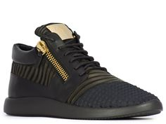 Giuseppe Zanotti men's sneakers in black Leather Fabric - Italian Boutique €416