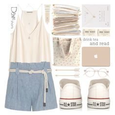 """""""Denim Short   Polyvore Contest 2"""" by chantellehofland ❤ liked on Polyvore featuring H&M, L'Agence, Converse, GUESS, 3M, Aveda and Dogeared"""