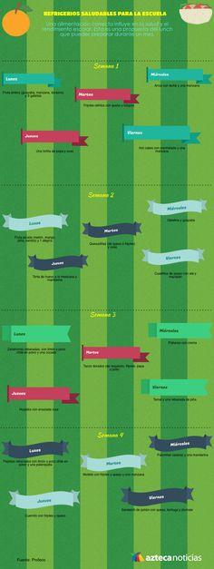 Refrigerios saludables para la escuela #infografia