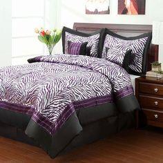 Sassy Zebra Comforter Set