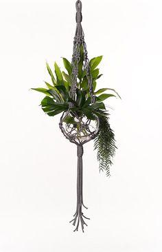 macrame plant hanger, hanging basket, pot hanger, hanging planter, plant holder, macrame, plant hanger, modern macrame- The Raquel