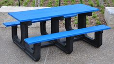 Park Place heavy-duty recycled plastic picnic table