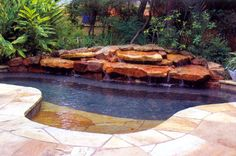 Spa pool, Cocktail pool, Spool...whatever you call it, this is a large spa or small pool with spa  (hot tub) features...this would be great for my small yard.