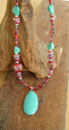Chunky Boho Necklace Southwest Necklace Bohemian Jewelry