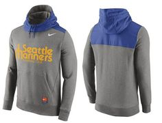 0ab53db79b18 Men s New York Mets Nike Gray Cooperstown Collection Hybrid Pullover Hoodie