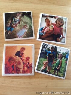 LOVE making these diy instagram coasters! Only twenty five cents each. Great Christmas present