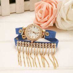 Hot Fashion Lady Women's Retro Tassel Bracelet Watch Wristwatch