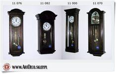już jest Adler Duży zegar wiszący szafkowy drewniany Dąb (11000)