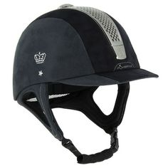 01 - Horse Riding Horse Riding - C700 Rhinestone Helmet - Black FOUGANZA - Horse Riding Equipment