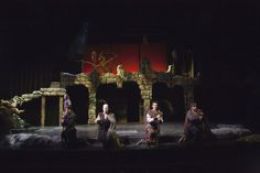 Macbeth. Wayne State University. Scenic design by Sheldon Green.