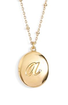 kate spade new york initial locket pendant necklace available at #Nordstrom