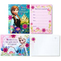 Disney Frozen Invites & Thank You Combo Pack