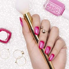two to tango by essie - such a dynamic duo. play up your pinks with this tone-on-tone nail art design.