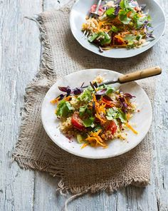 Toasted Quinoa salad with lime-sumac dressing
