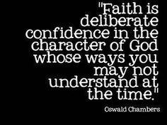 Faith. Oswald Chambers