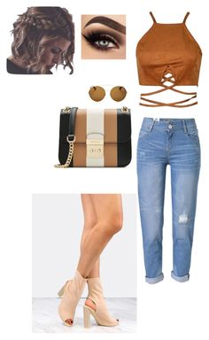"""""""Bronze 🍂"""" by lavishdi ❤ liked on Polyvore featuring WithChic, MICHAEL Michael Kors and Givenchy"""