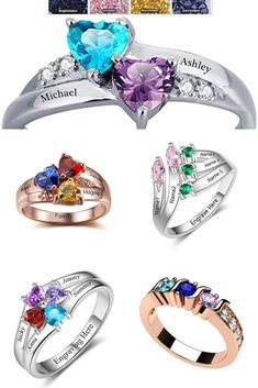 Bueasy Fashion Double Layer Opening Adjustable Rings with Cubic Zirconia for Women Girls Gift