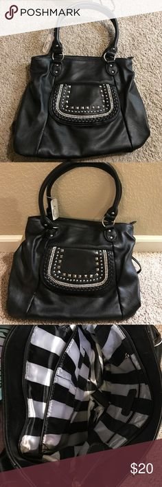 Charming Charlie bag! Black with pretty rhinestones. Just an all around great bag for everyday. Charming Charlie Bags Shoulder Bags