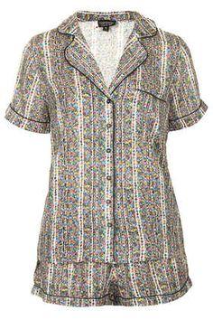 Stripe Ditsy Pyjama Set - Nightwear - Lingerie & Nightwear  - Clothing