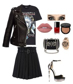 """Untitled #734"" by einatv on Polyvore featuring Diesel, Dsquared2, Jimmy Choo, Christian Louboutin, Lime Crime, Chanel, Bobbi Brown Cosmetics, Anine Bing and Rolex"