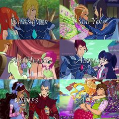 """88 Likes, 2 Comments - — Irine (@winxlcve) on Instagram: """"[winx couples + quote] I love these couples sm i can't get enough of them and personally, i think…"""""""