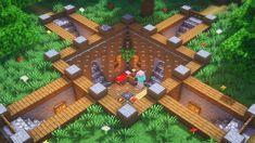 Minecraft: How to Build an Underground Base Minecraft Crafts, Minecraft Designs, Lego Do Minecraft, Plantas Do Minecraft, Minecraft Houses Survival, Minecraft Cottage, Minecraft Interior Design, Easy Minecraft Houses, Minecraft Plans