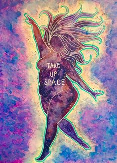 Take Up Space Note Card set - feminist - feminism - space - body positivity - . - Take Up Space Note Card set – feminist – feminism – space – body positivity – – - Body Love, Loving Your Body, Positive Kunst, Mandala Lunar, Body Image Art, Body Positive Quotes, Fat Positive, Feminist Art, Feminist Quotes