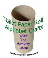 Alphabet crafts using TP rolls.