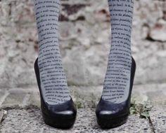 Literary tights! via the New York Daily News