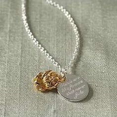 """Friendship Flower Necklace """"Friends are like flowers that never fade."""""""