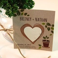 Eco Friendly Wedding Favors Seed paper. Plantable Seed Paper:  Give your guests plantable paper that will grown into herbs!